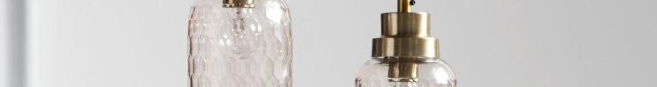 Descriptivo Materiales  Lámpara colgante de cristal rosa Satin
