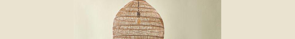 Descriptivo Materiales  Lámpara colgante de mimbre natural Sancy, tamaño M