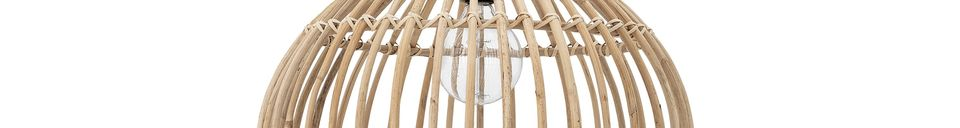 Descriptivo Materiales  Lámpara colgante de ratán Andrieu