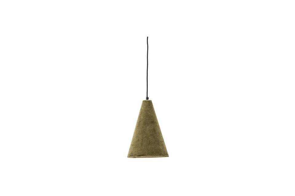 Lámpara colgante Rosay de algodón verde Bloomingville