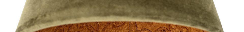 Descriptivo Materiales  Lámpara colgante Rosay de algodón verde