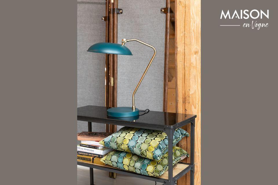 Lámpara de escritorio azul Liam Dutch Bone