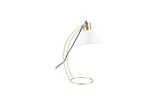 Lámpara de escritorio Curly blanco Clipped