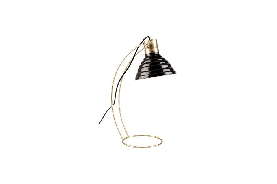 Lámpara de escritorio Curly negro White Label