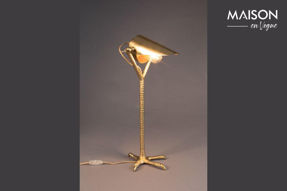 Lámpara de escritorio de latón Falcon - 6