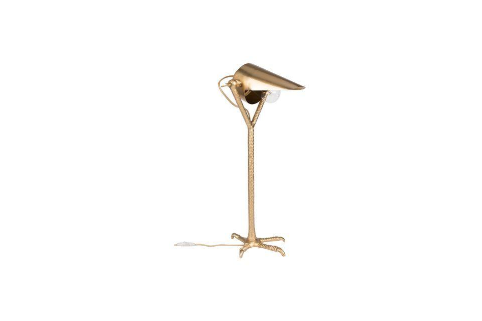Lámpara de escritorio de latón Falcon Dutch Bone
