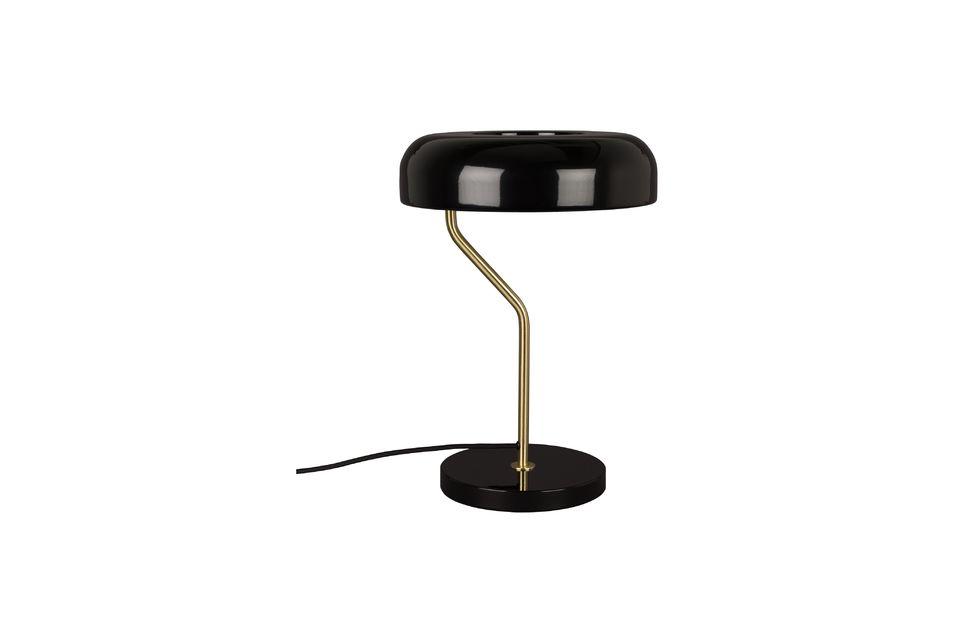 Lámpara de escritorio Eclipse negra Dutch Bone