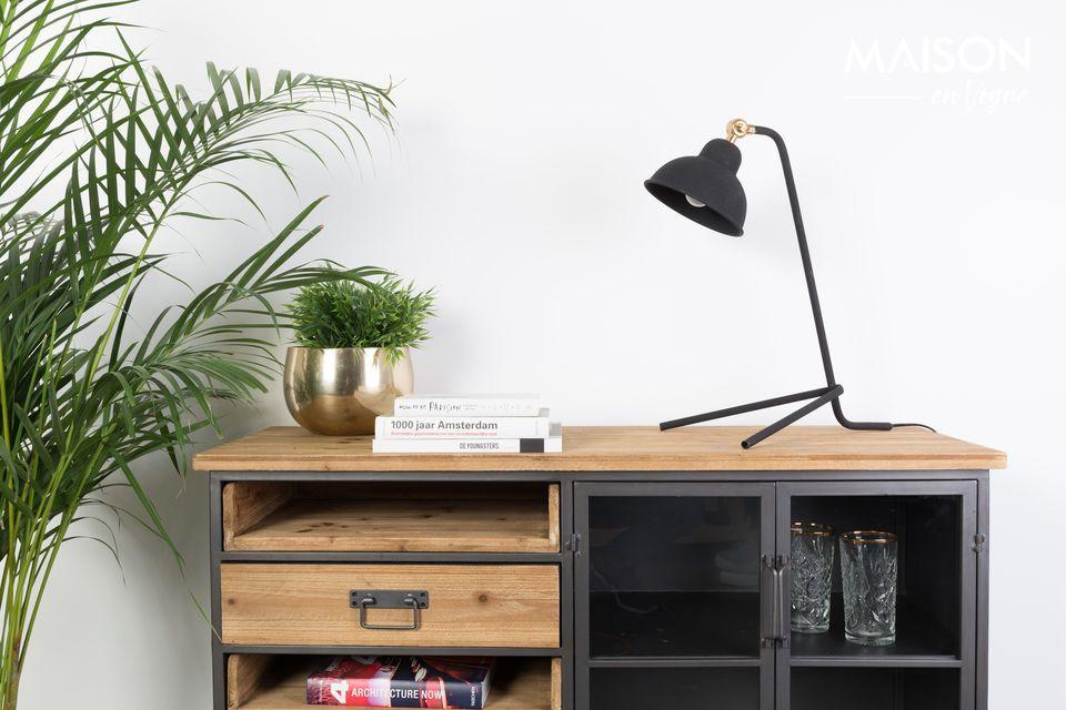 Lámpara de escritorio Jock negro White Label