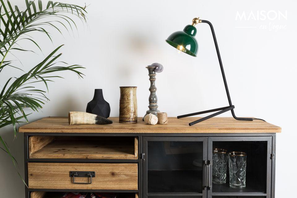 Lámpara de escritorio Jock verde White Label