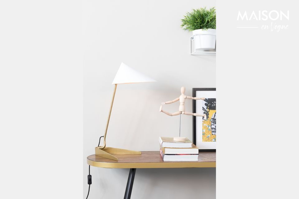 Lámpara de escritorio Lizzy blanco White Label