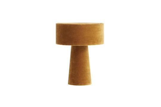 Lámpara de escritorio Mushroom en terciopelo color mostaza