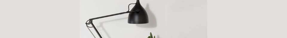 Descriptivo Materiales  Lámpara de escritorio Reader negro mate
