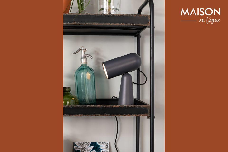 Lámpara de escritorio Vesper color gris oscuro White Label