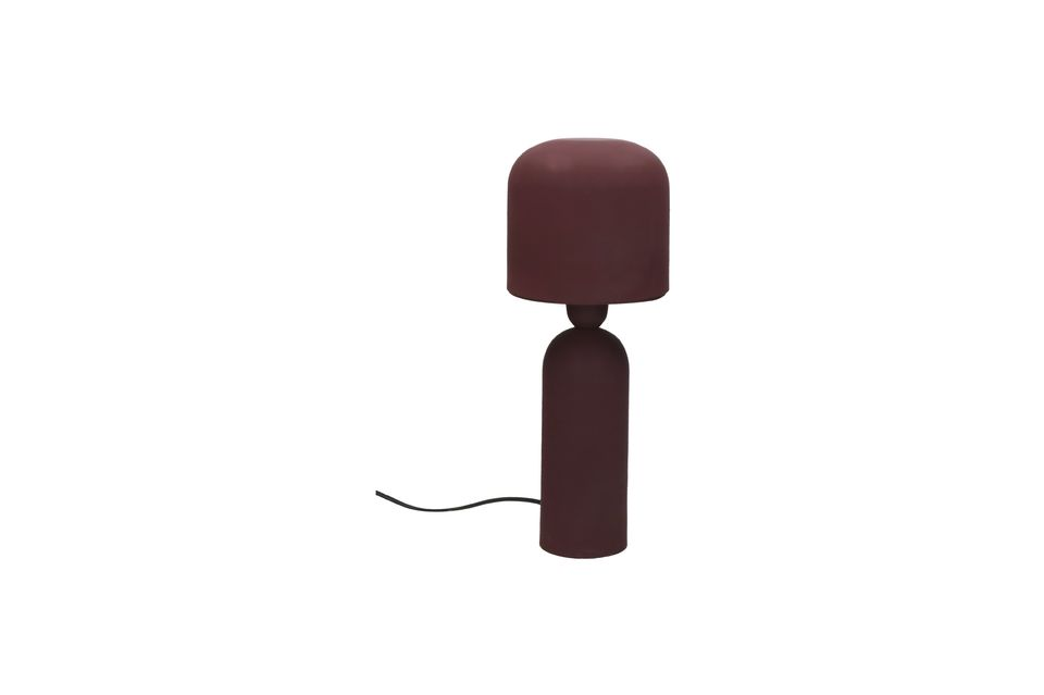 Lámpara de mesa Bul color burdeos Pomax