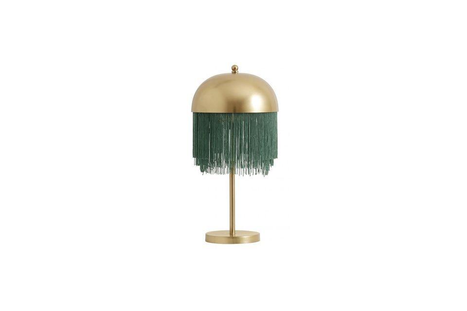 La perfección hecha lámpara, en verde y oro
