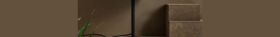 Descriptivo Materiales  Lámpara de mesa Glow de metal negro