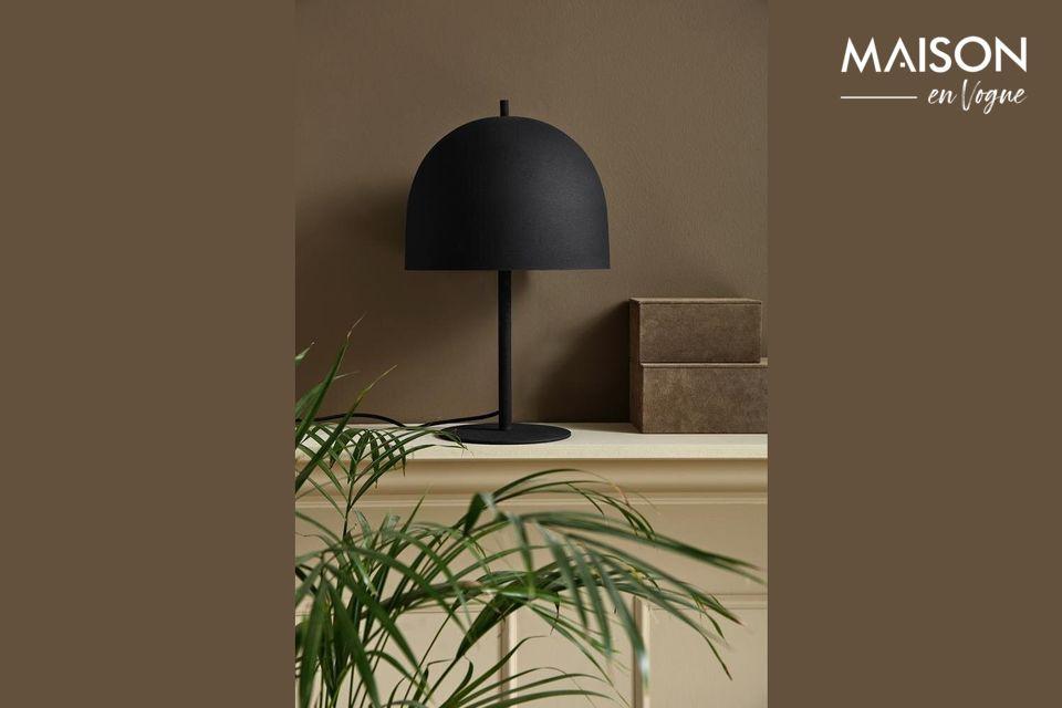 Lámpara de mesa Glow de metal negro Nordal