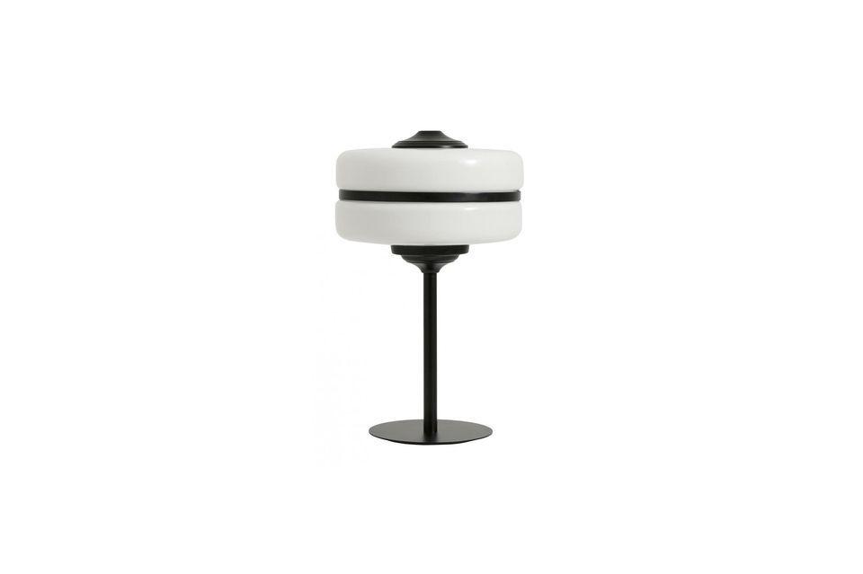 Una lámpara escultural bimaterial