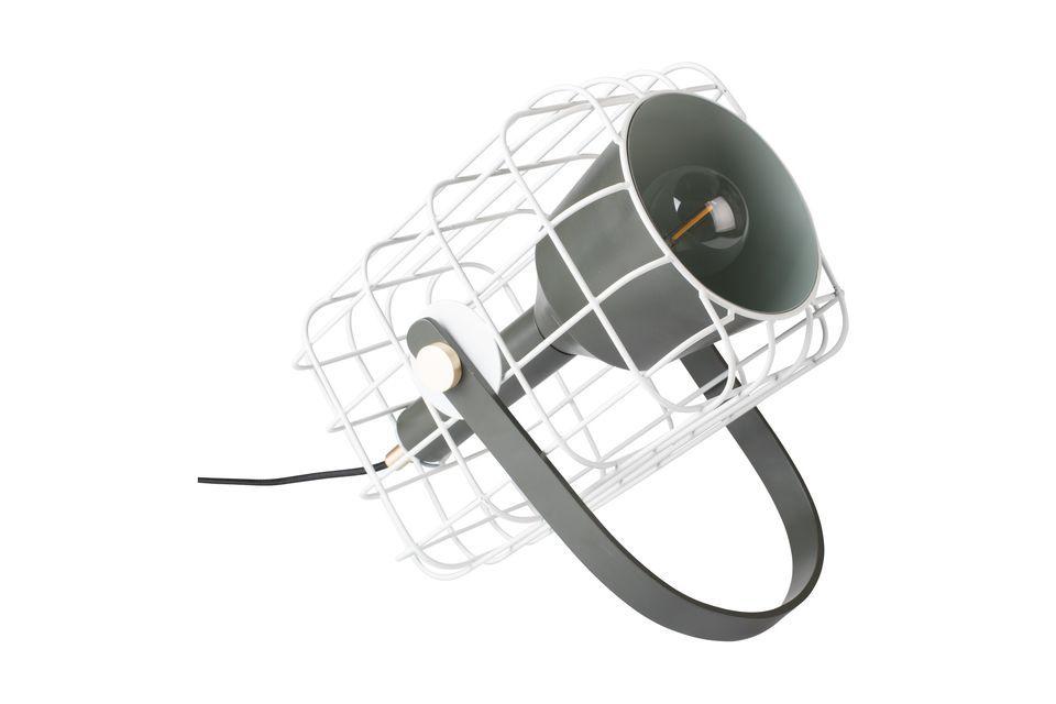 Lámpara de mesa Jaula blanca - 5
