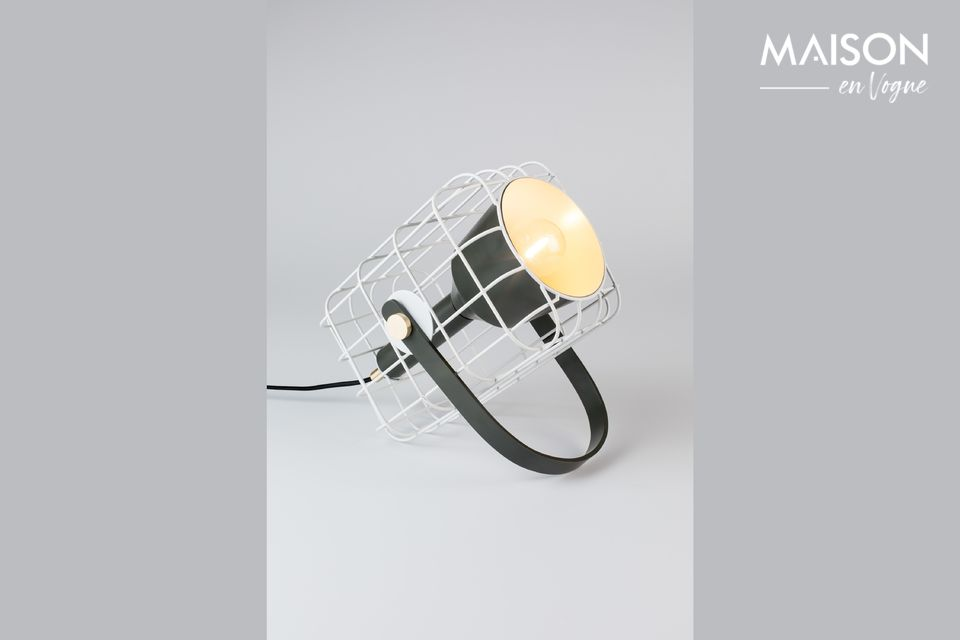 Lámpara de mesa Jaula blanca White Label