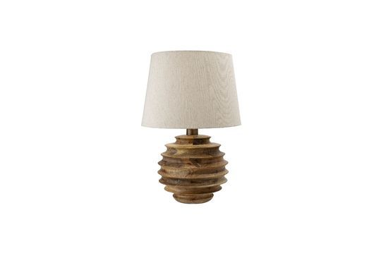 Lámpara de mesa Magny hecha de madera de mango Clipped