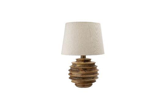 Lámpara de mesa Magny hecha de madera de mango