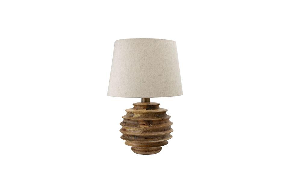 Lleve la naturaleza y la luz a su hogar con esta hermosa lámpara de mesa