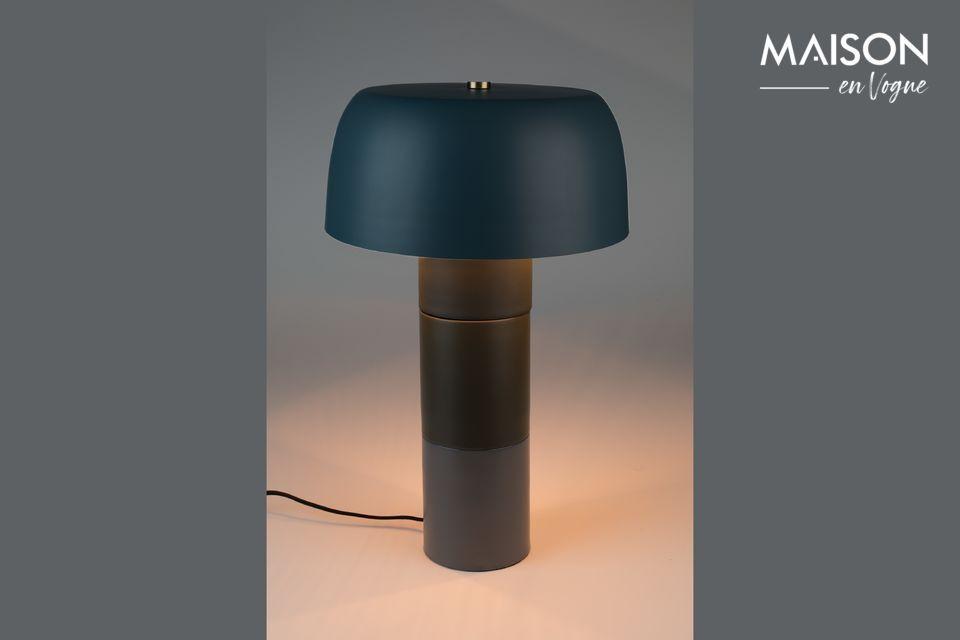 Lámpara de mesa Muras Tricolor azul White Label