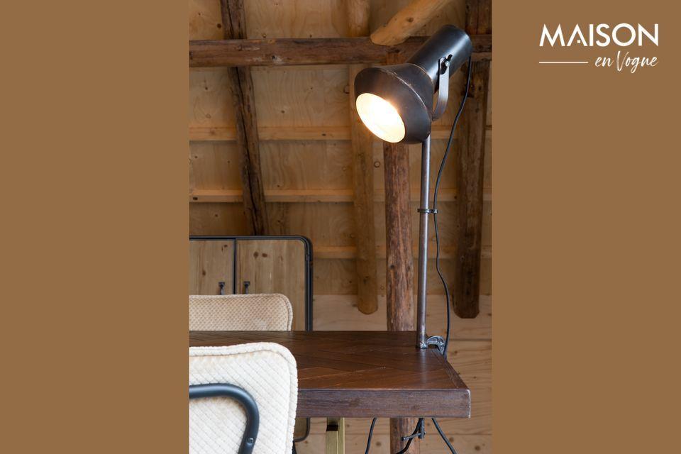 Lámpara de mesa negra Vox Dutch Bone