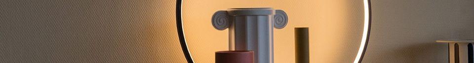 Descriptivo Materiales  Lámpara de mesa redonda Collat