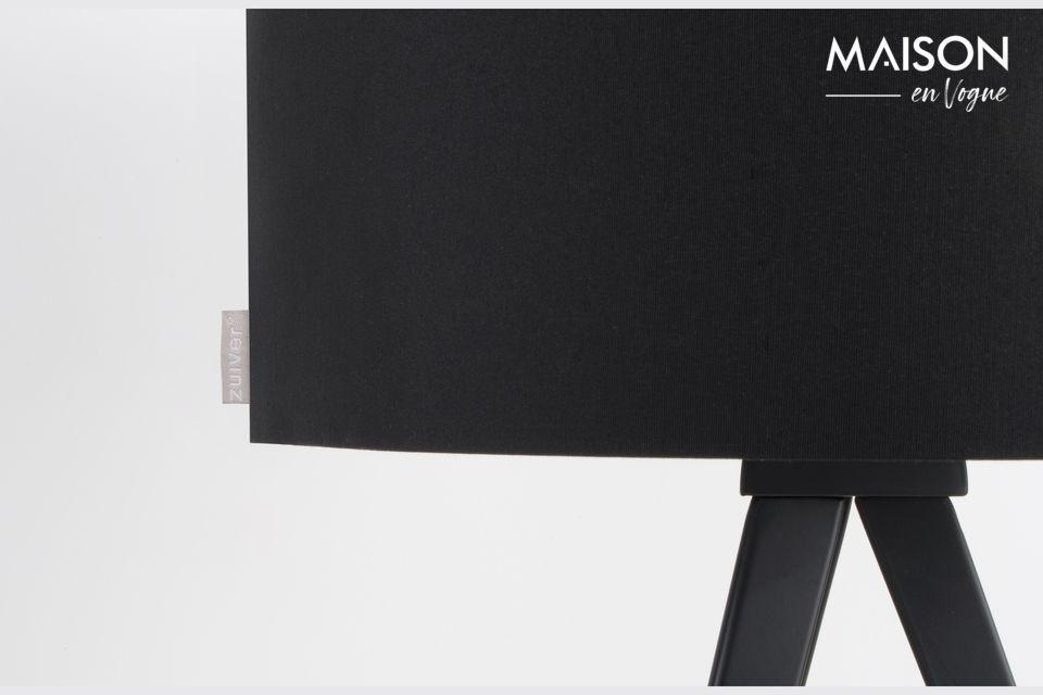 Lámpara de mesa Trípode negro - 3