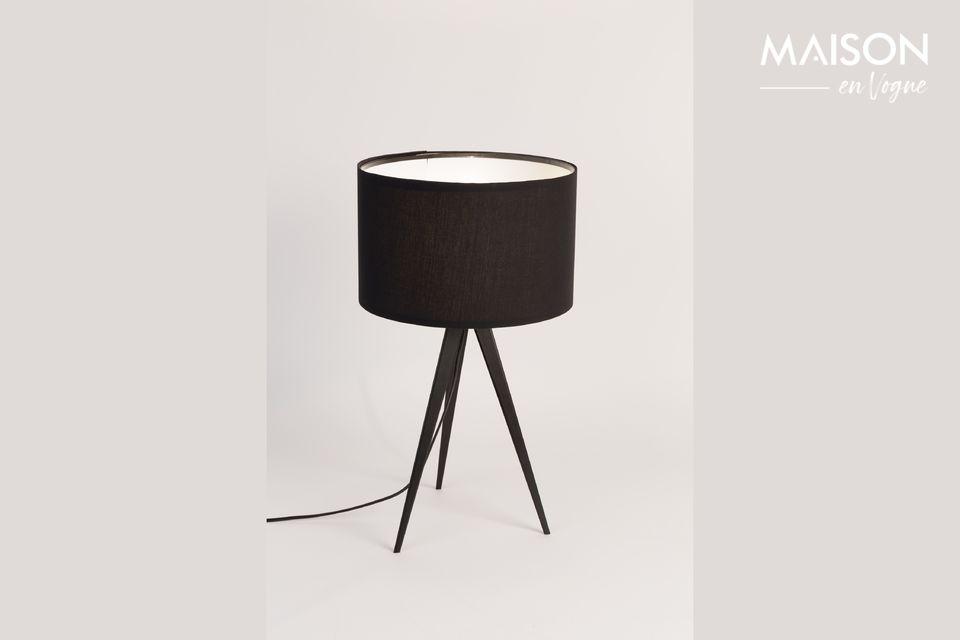 Lámpara de mesa Trípode negro - 4