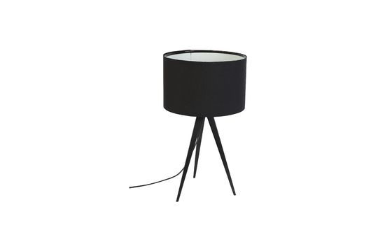 Lámpara de mesa Trípode negro Clipped