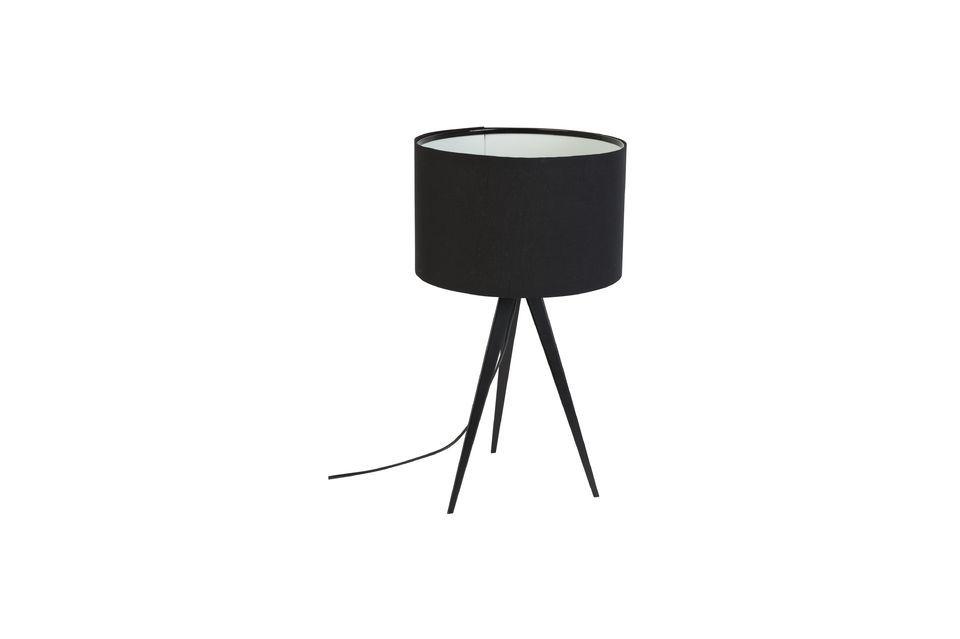 Lámpara de mesa Trípode negro - 5