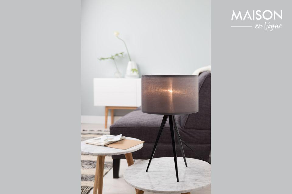 Lámpara de mesa Trípode negro y gris Zuiver