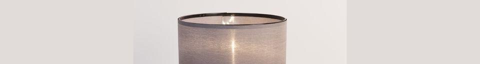 Descriptivo Materiales  Lámpara de mesa Trípode negro y gris