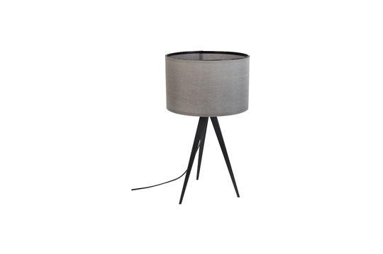Lámpara de mesa Trípode negro y gris