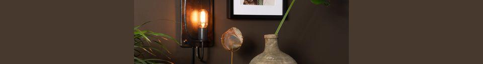 Descriptivo Materiales  Lámpara de pared Brody vintage marrón