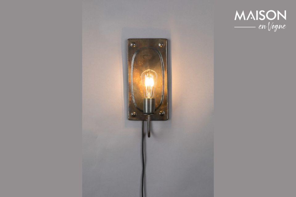 Lámpara de pared Brody vintage marrón Dutch Bone