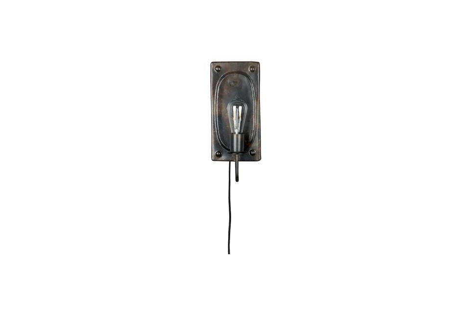 Lámpara de pared Brody vintage marrón - 4