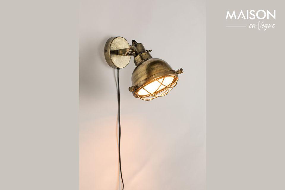 Lámpara de pared de bronce Evan White Label