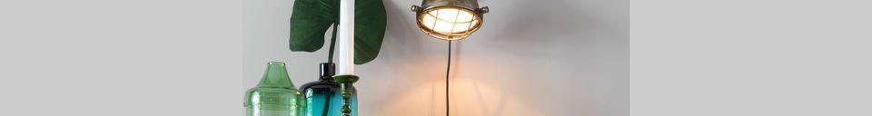 Descriptivo Materiales  Lámpara de pared de bronce Evan