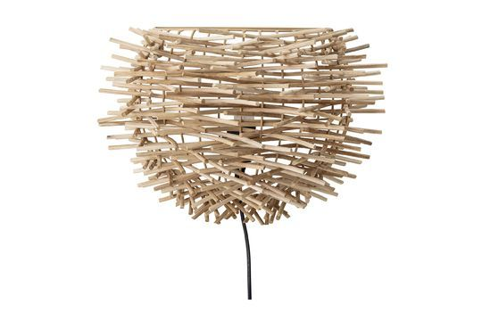 Lámpara de pared de ratán Courgis