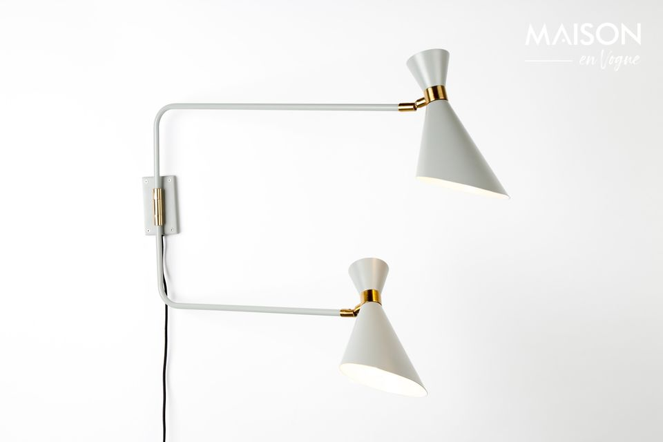 Lámpara de pared doble Shady gris Zuiver