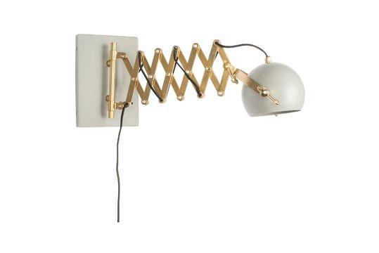 Lámpara de pared gris Sarana Clipped