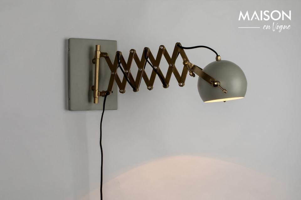 Lámpara de pared gris Sarana White Label