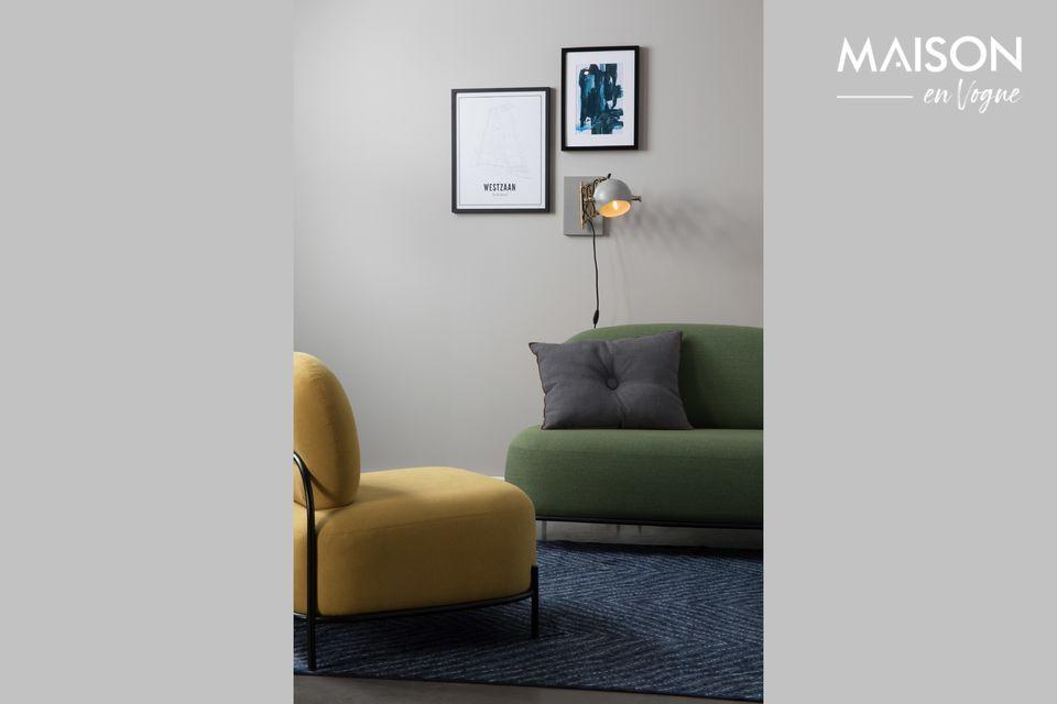 El aplique Gris Sarana de White Label Living es un objeto decorativo por derecho propio gracias a su