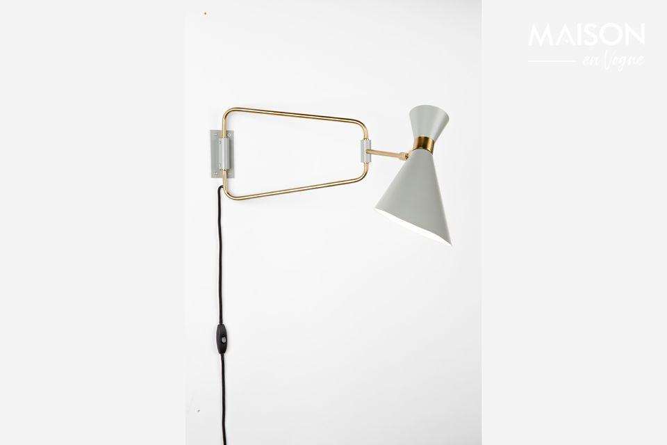 Lámpara de pared Shady gris Zuiver
