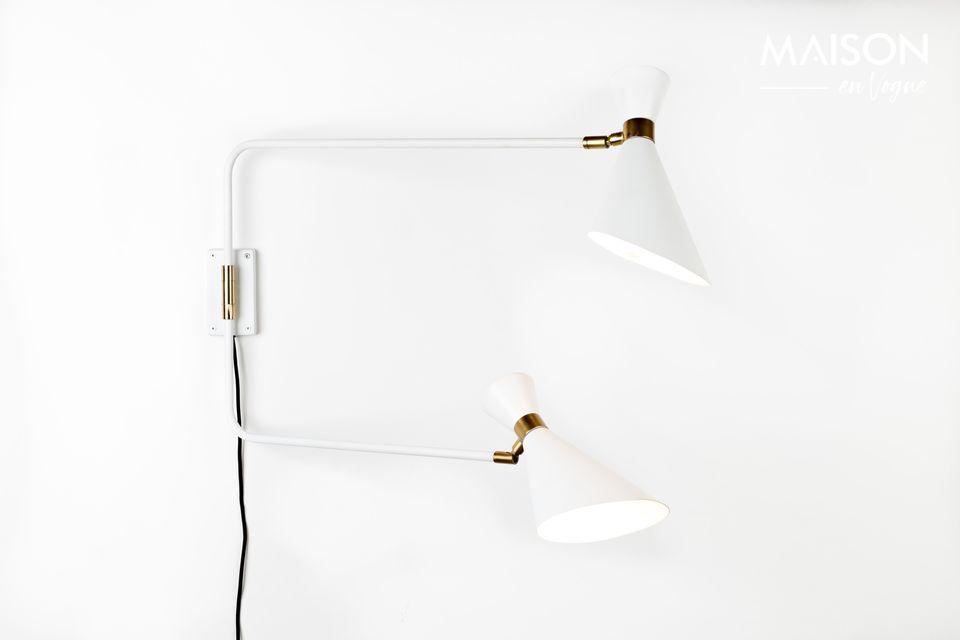 Lámpara de pared Shady gris blanca Zuiver