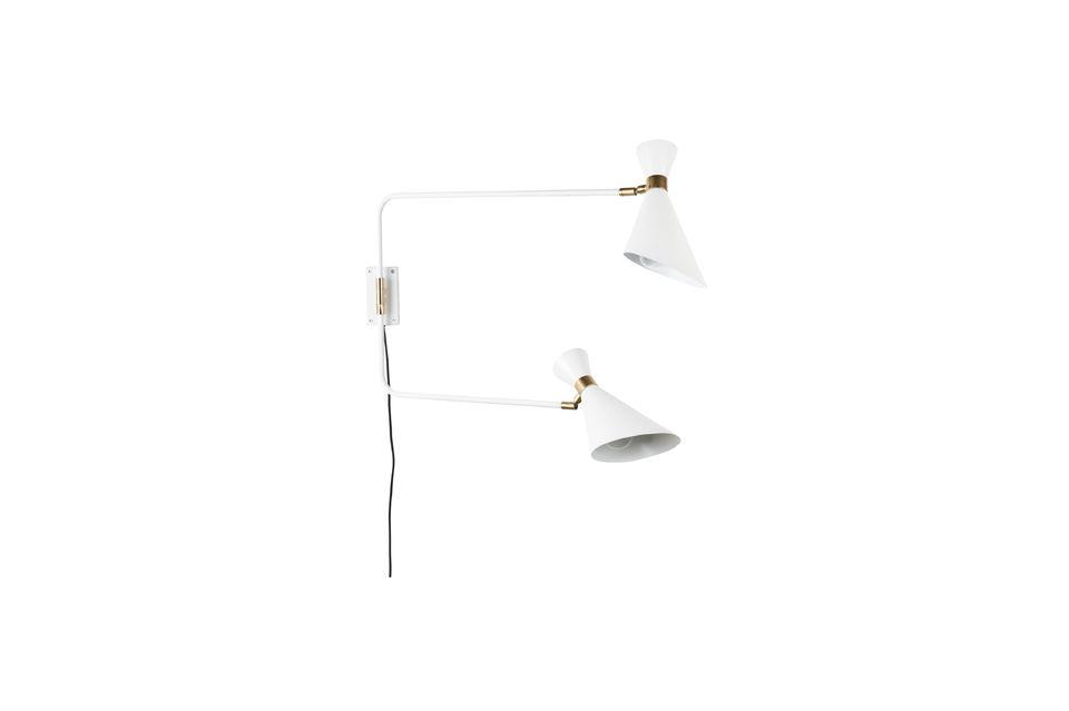 Lámpara de pared Shady gris blanca - 5
